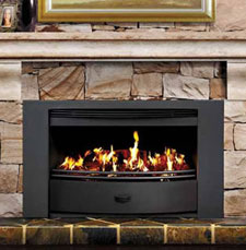 Infiniti Fireplace With Delux Black Trim