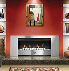Infiniti Fireplace With Extra Wide Stainless Steel Trim
